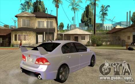 Honda Civic Mugen v1 for GTA San Andreas right view