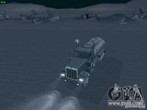 Kenworth Petrol Tanker for GTA San Andreas right view