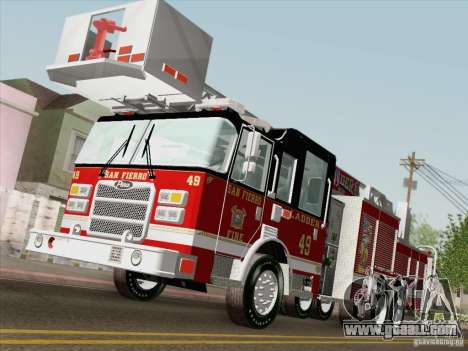 Pierce Rear Mount SFFD Ladder 49 for GTA San Andreas upper view