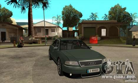 Audi A8 Long 6.0 2000 for GTA San Andreas back view