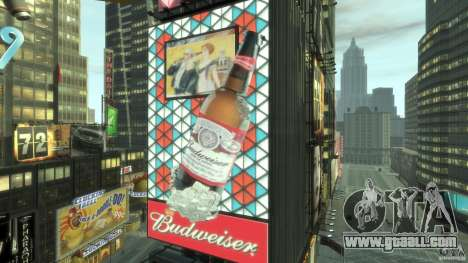 Timesquare Budweiser MOD for GTA 4 second screenshot