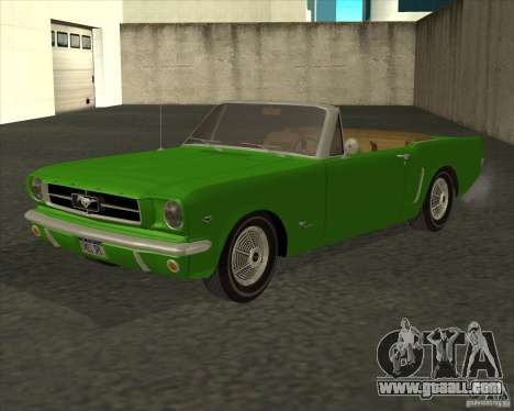 Ford Mustang 289 1964 for GTA San Andreas