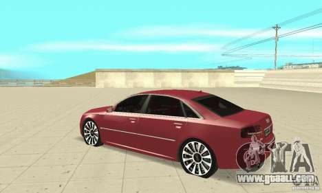 Audi A8L 4.2 FSI for GTA San Andreas back view
