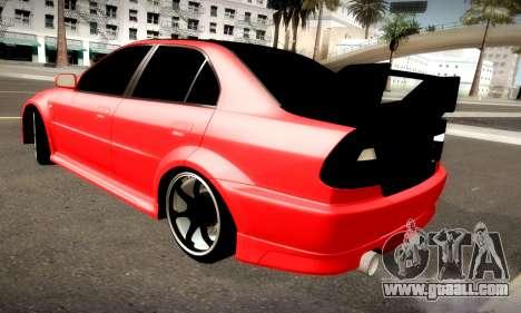 Mitsubishi Lancer Evolution 6 for GTA San Andreas back view