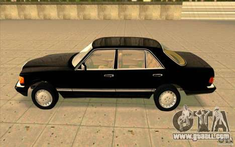 Mercedes Benz 560SEL w126 1990 v1.0 for GTA San Andreas left view