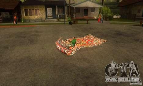 Flying Carpet v.1.1 for GTA San Andreas left view