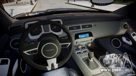 Chevrolet Camaro SS 2009 v2.0 for GTA 4 back view