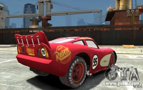 Lighting McQueen for GTA 4 right view
