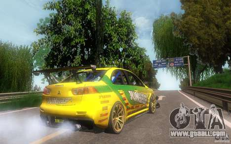 Mitsubishi Lancer Evolution X Gymkhana for GTA San Andreas back left view