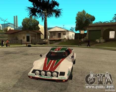 Lancia Stratos for GTA San Andreas back view