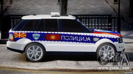 Range Rover Macedonian Police [ELS] for GTA 4 side view