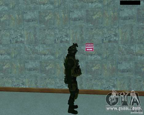 The third soldier from the skin Cod MW 2 for GTA San Andreas forth screenshot