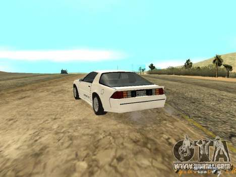 Chevrolet Camaro IROC-Z 1989 for GTA San Andreas