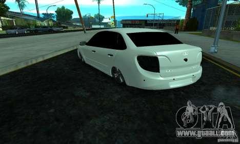 Lada 2190 Granta for GTA San Andreas back left view