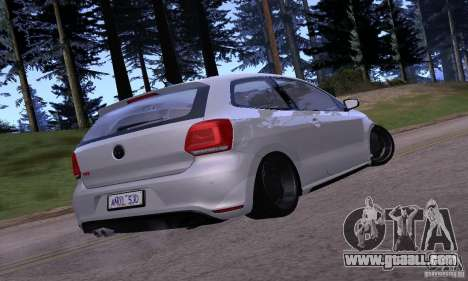 Volkswagen Polo GTI Stanced for GTA San Andreas right view