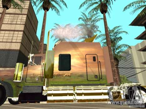 Kenworth W900 for GTA San Andreas back left view