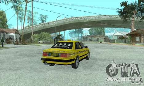 Audi 100 C4 (Taxi) for GTA San Andreas back left view