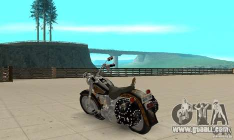 Harley Davidson FLSTF (Fat Boy) v2.0 Skin 5 for GTA San Andreas back left view