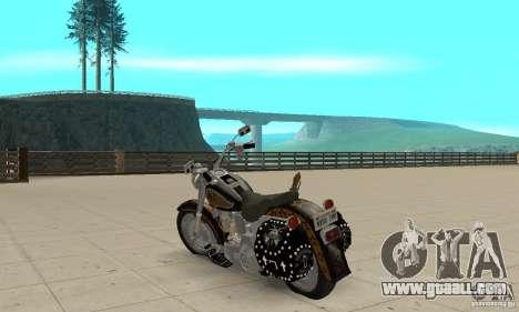 Harley Davidson FLSTF (Fat Boy) v2.0 Skin 5 for GTA San Andreas back left view