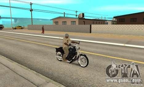Harley Davidson FXSTBi Night Train for GTA San Andreas right view