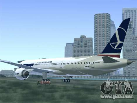 Boeing 787-9 LOT Polish Airlines for GTA San Andreas wheels