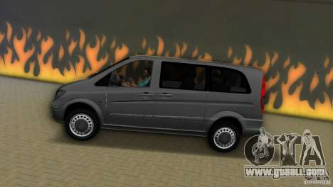 Mercedes-Benz Vito 2007 for GTA Vice City left view