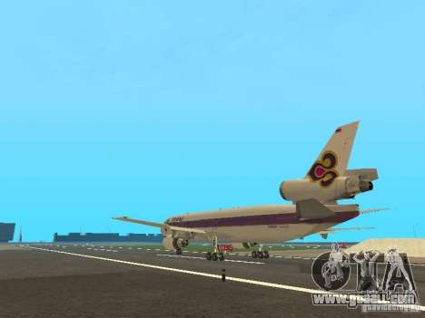 McDonell Douglas  DC 10 Thai Airways for GTA San Andreas back left view