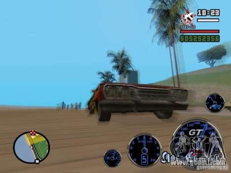 Speedometer GT for GTA San Andreas