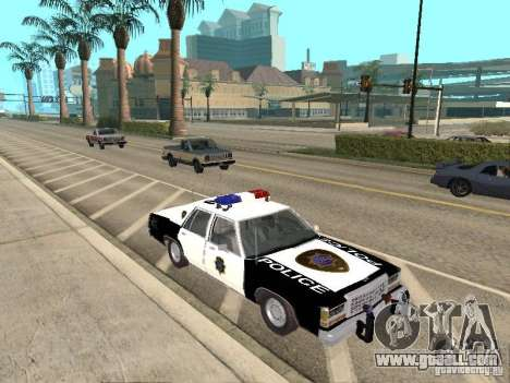Ford LTD Crown Victoria Interceptor LAPD 1985 for GTA San Andreas back view