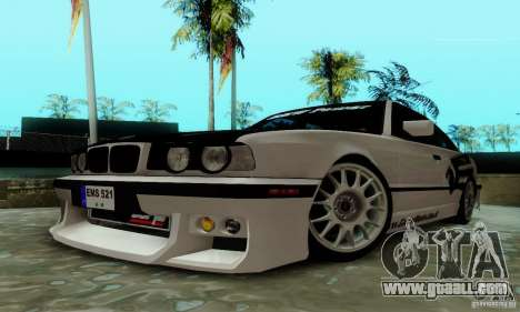 BMW E34 540i Tunable for GTA San Andreas inner view