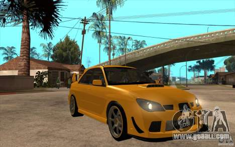 Subaru Impreza 2006 WRX STI for GTA San Andreas back view