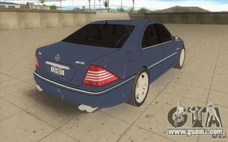 Mercedes-Benz S-Klasse for GTA San Andreas side view