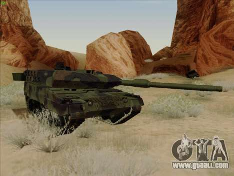 Leopard 2A6 for GTA San Andreas inner view