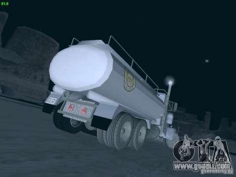 Kenworth Petrol Tanker for GTA San Andreas back left view