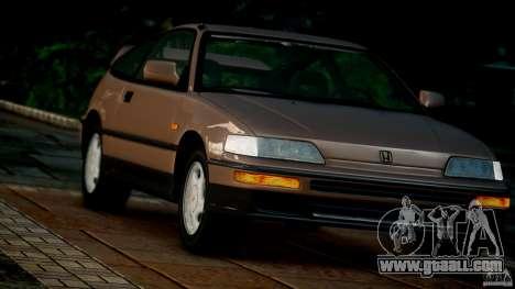 Honda CR-X SiR 1991 for GTA 4 back view