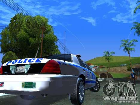 Ford Crown Victoria 2009 New York Police for GTA San Andreas back left view