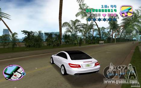 Mercedes-Benz E Class Coupe C207 for GTA Vice City back left view