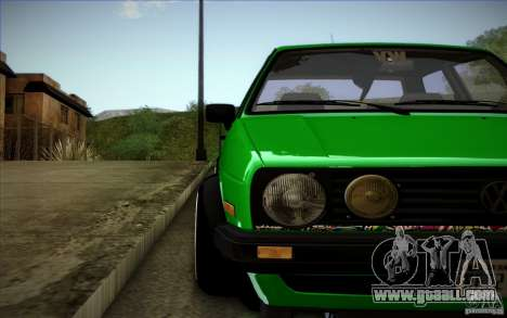 VW Golf MK2 Stanced for GTA San Andreas upper view