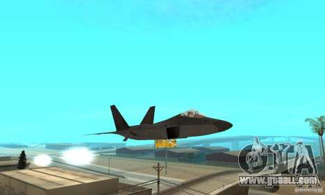 F-22 Black for GTA San Andreas side view