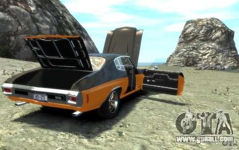 Chevrolet Chevelle SS 1970 for GTA 4 engine