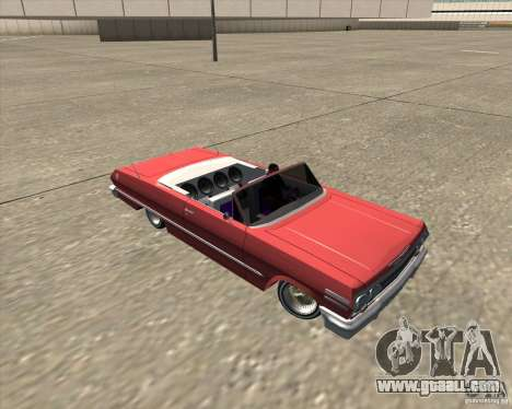 Chevrolet Impala 1963 lowrider for GTA San Andreas upper view