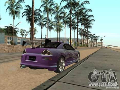 Mitsubishi Eclipse Spyder 2FAST2FURIOUS for GTA San Andreas back left view