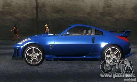 Nissan 350Z Varis for GTA San Andreas left view