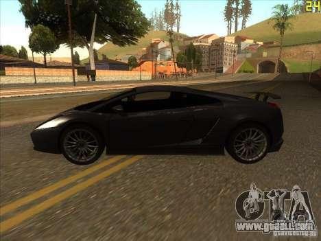 Lamborghini Gallardo Superleggera 2006 for GTA San Andreas back left view