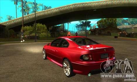 Holden Monaro CV8-R for GTA San Andreas back left view