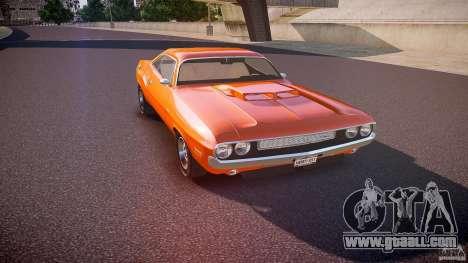 Dodge Challenger v1.0 1970 for GTA 4 inner view
