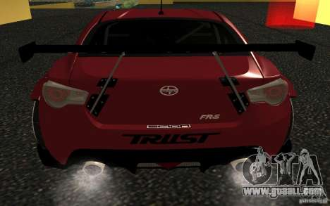 Scion FR-S for GTA San Andreas back left view