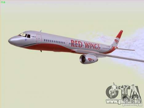 Tupolev Tu-204 Red Wings Airlines for GTA San Andreas upper view