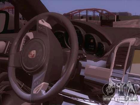 Porsche Cayenne Turbo 958 2011 V2.0 for GTA San Andreas inner view