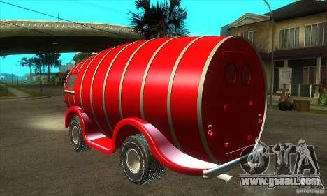 Beer Barrel Truck for GTA San Andreas back left view